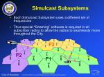 simulcast subsystems32