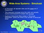 wide area systems simulcast30