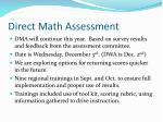 direct math assessment