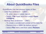 about quickbooks files