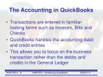 the accounting in quickbooks