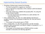 implementing subset queries