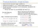 predicate abstraction simple example