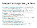 b squeda en google dengue fever