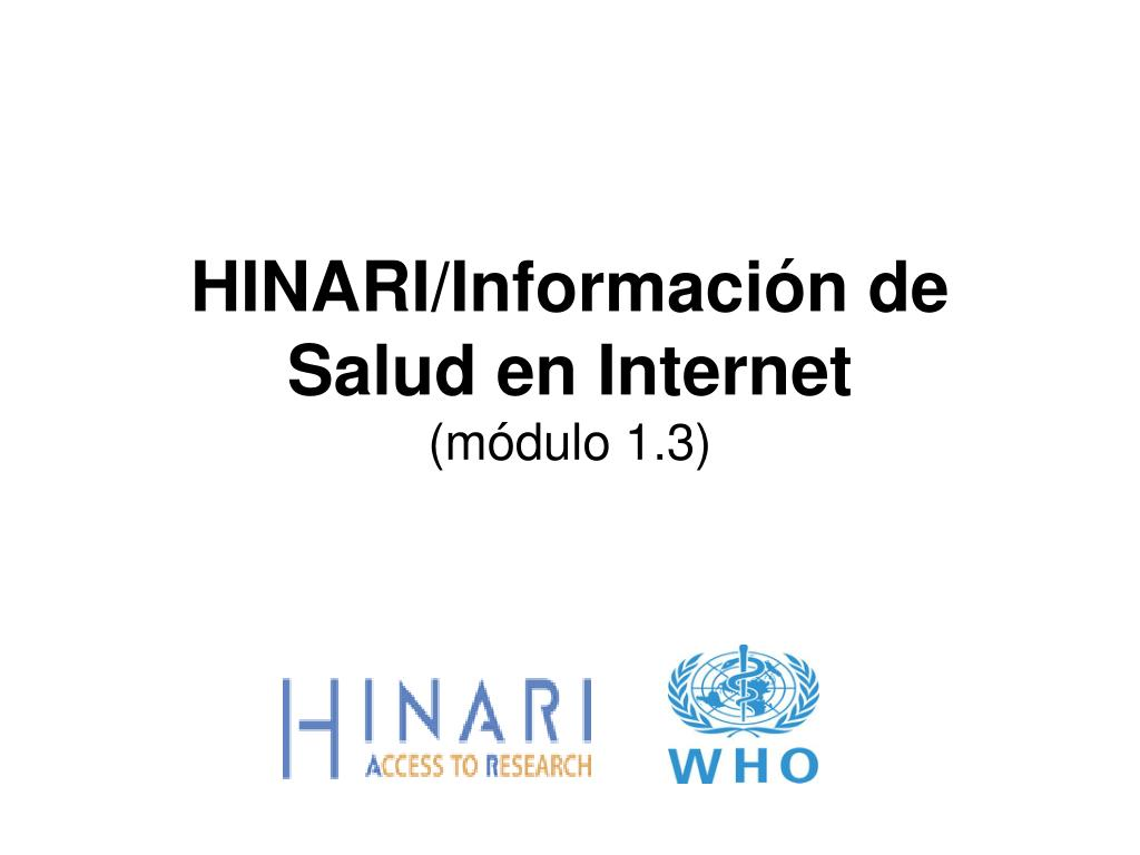hinari informaci n de salud en internet m dulo 1 3 l.