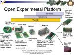 open experimental platform