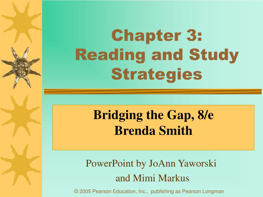 chapter 3 reading and study strategies l.