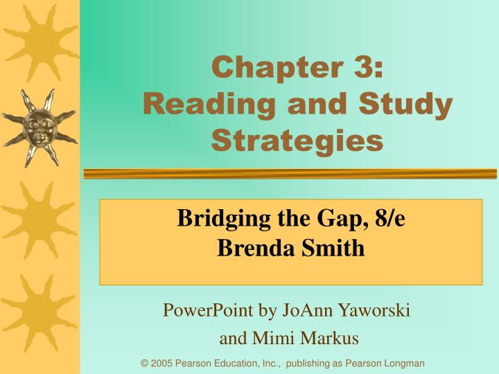 Chapter 3 reading and study strategies