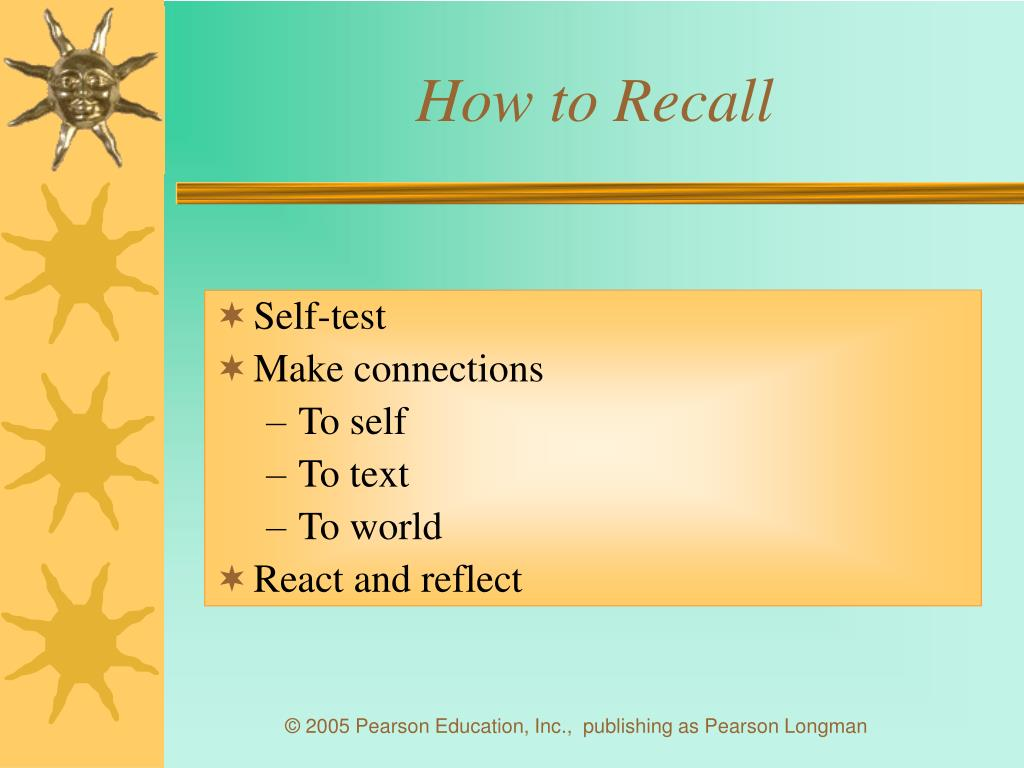 How to Recall