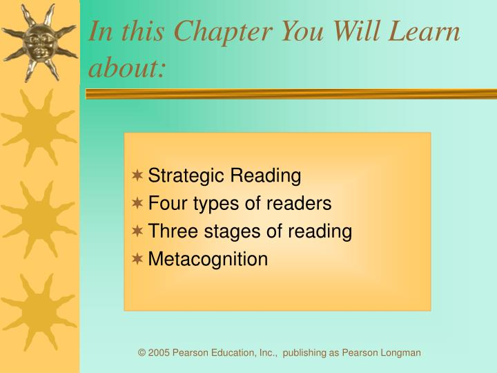 In this chapter you will learn about