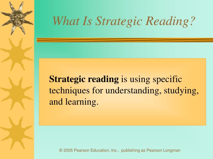 What is strategic reading