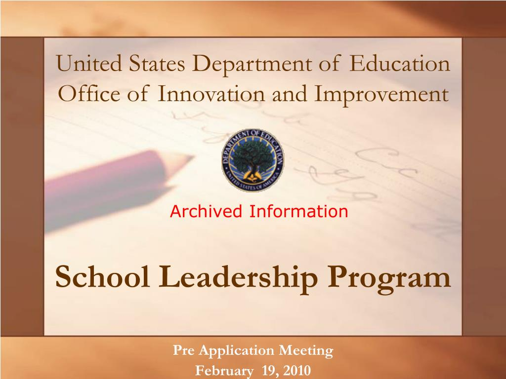 school leadership program l.