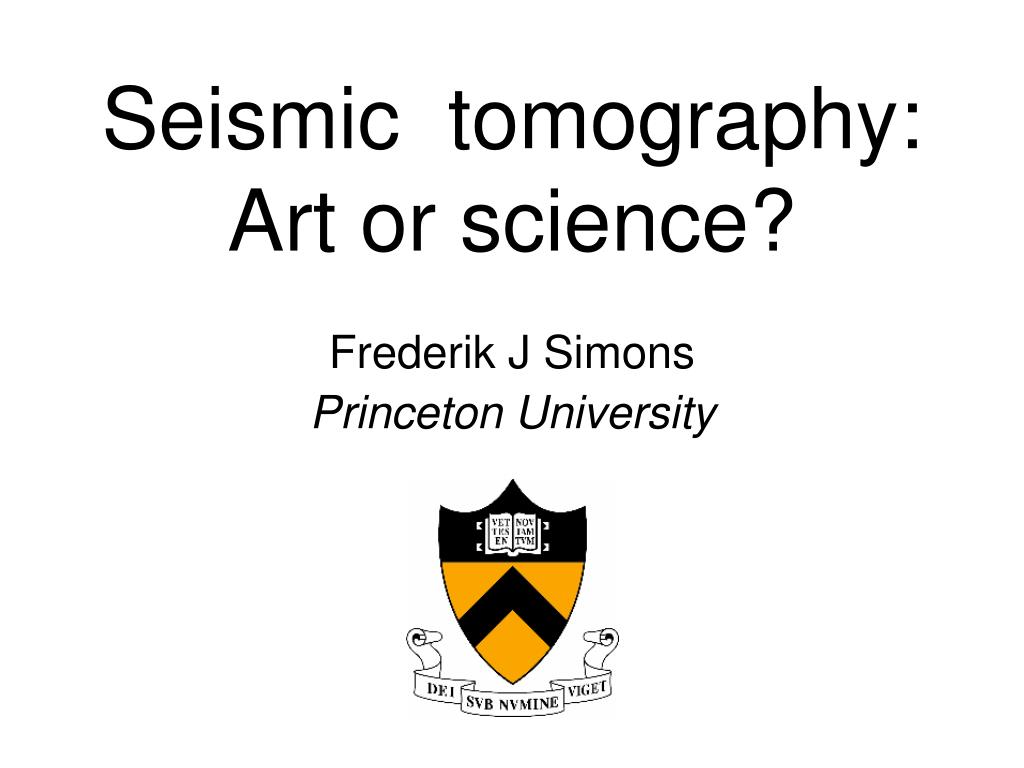 seismic tomography art or science l.