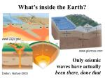 what s inside the earth