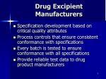 drug excipient manufacturers
