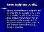 drug excipient quality