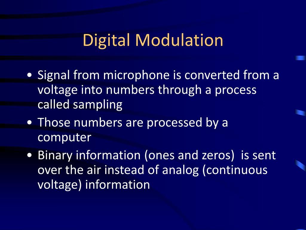 Digital Modulation