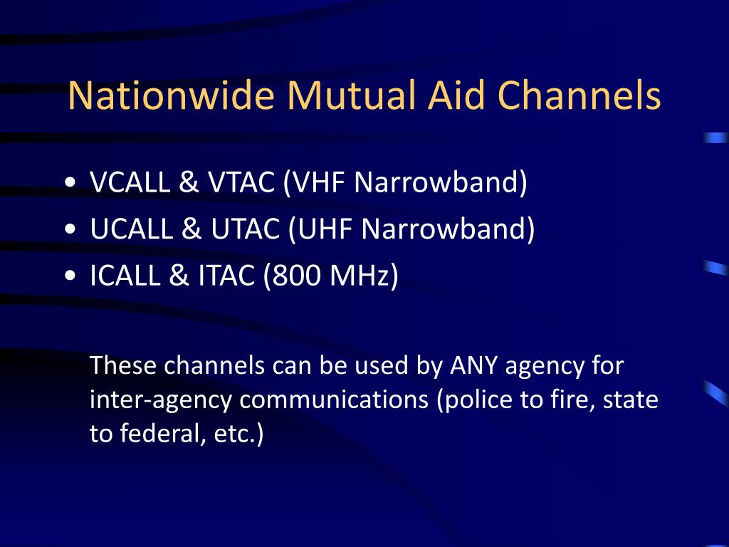 Nationwide Mutual Aid Channels