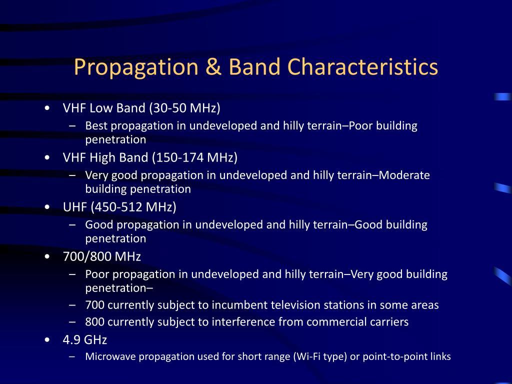 Propagation & Band Characteristics