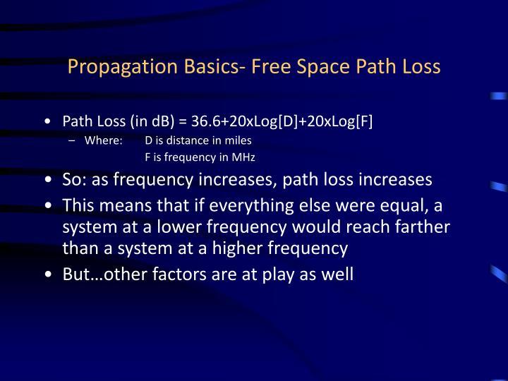 Propagation basics free space path loss
