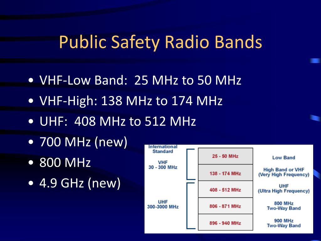public safety radio bands l.