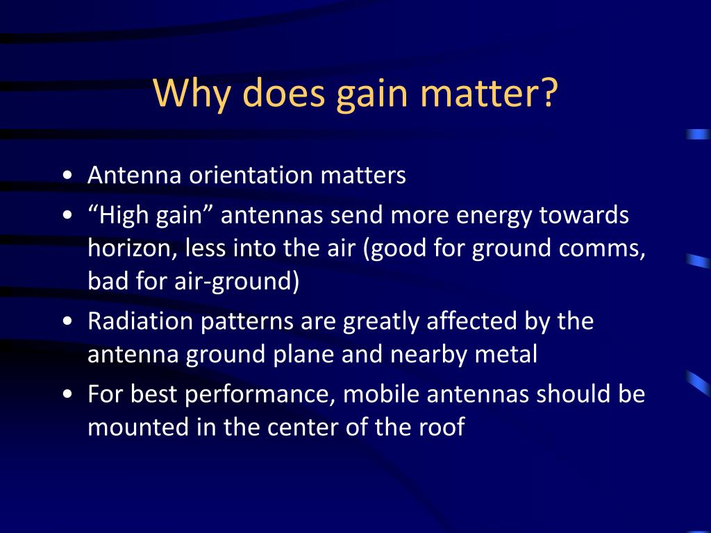 Why does gain matter?