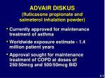 advair diskus fluticasone propionate and salmeterol inhalation powder