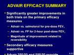 advair efficacy summary