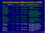 anti inflammatory effects of ics in copd