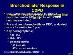 bronchodilator response in copd intermittent positive pressure breathing trial ippb