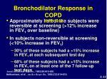 bronchodilator response in copd ippb trial