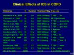 clinical effects of ics in copd
