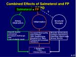 combined effects of salmeterol and fp in copd