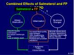 combined effects of salmeterol and fp in copd116