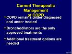 current therapeutic management of copd
