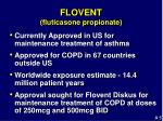 flovent fluticasone propionate