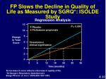 fp slows the decline in quality of life as measured by sgrq isolde study