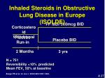 inhaled steroids in obstructive lung disease in europe isolde