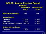 isolde adverse events of special interest