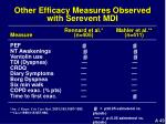 other efficacy measures observed with serevent mdi