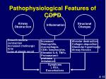 pathophysiological features of copd