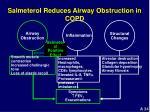 salmeterol reduces airway obstruction in copd
