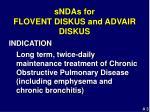 sndas for flovent diskus and advair diskus