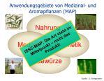 anwendungsgebiete von medizinal und aromapflanzen map