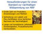 herausforderungen f r einen standard zur nachhaltigen wildsammlung von map6