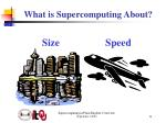 what is supercomputing about