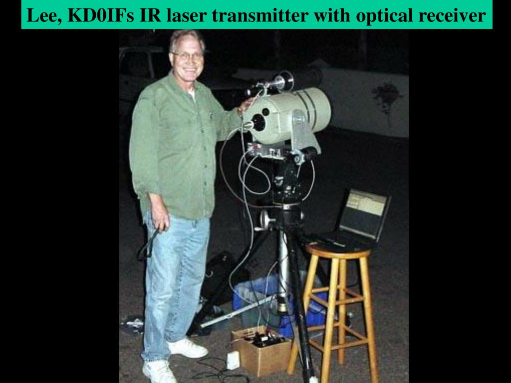 Lee, KD0IFs IR laser transmitter with optical receiver