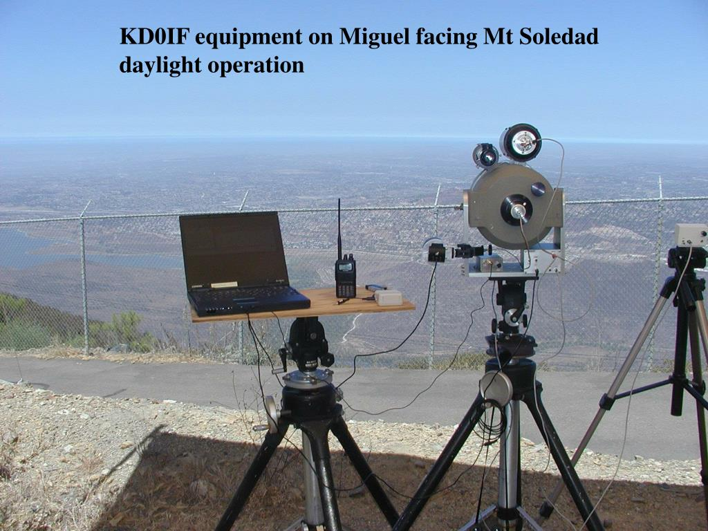 KD0IF equipment on Miguel facing Mt Soledad