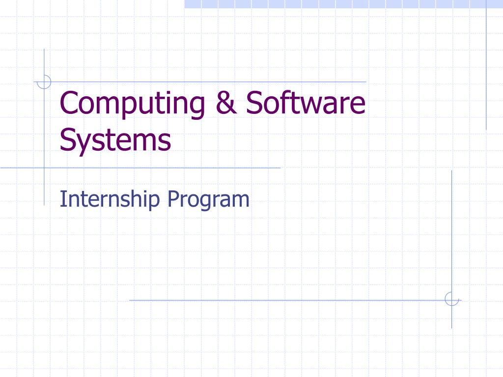 computing software systems l.