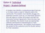 option 6 individual project student defined